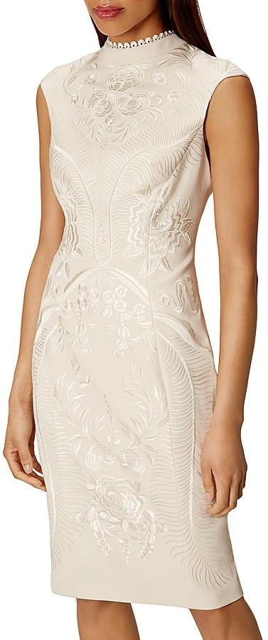KAREN MILLEN Embroidered Sheath Dress 5
