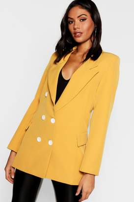 boohoo Double Breasted Blazer with Contrast Button