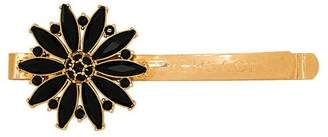 Versace Gold tone and black flower hair pin