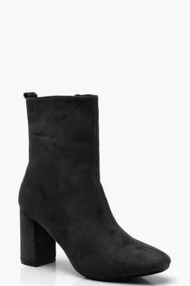 boohoo Block Heel Sock Boots