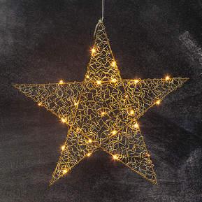 Fünfzackiger LED-Stern Loop 47 cm messin...