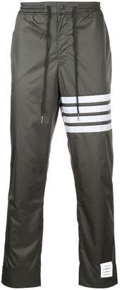 Thom Browne Seamed 4-bar Stripe Mesh Ripstop Pants