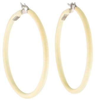 Celine Lacquered Large Hoop Earrings