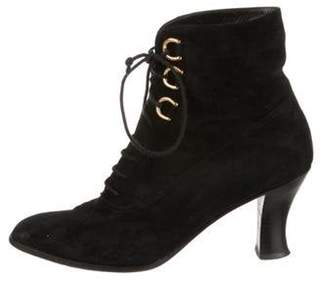 Gucci Suede Ankle Booties Black Suede Ankle Booties