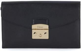 Furla Metropolis Envelope Black Leather Pochette