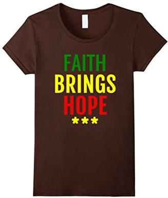 Faith Brings Hope-Inspirational-Hope-Faith- Rasta T-Shirt