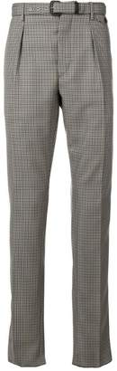 Prada check belted trousers