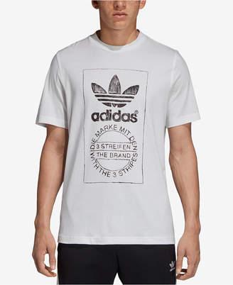 adidas Men's Originals Hand-Drawn-Look Logo T-Shirt