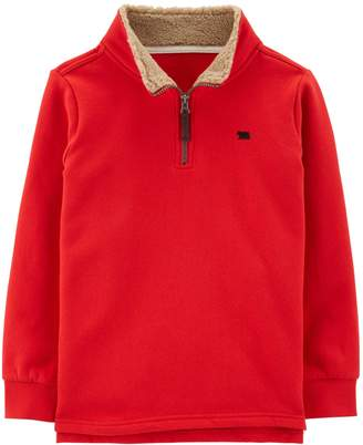Carter's Boys 4-12 Sherpa 1/4 Zip Pullover Sweater