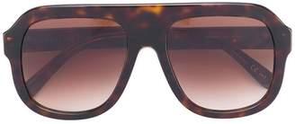 Stella McCartney Eyewear chain-trimmed visor sunglasses
