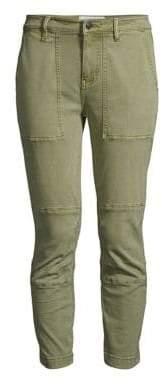 Current/Elliott Women's The Weslan Lace-Up Detail Crop Pants - Army Green - Size 26 (2-4)