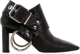 100mm Sling Ring Leather Ankle Boots
