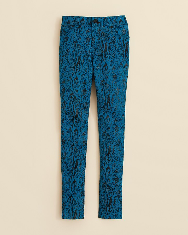 "7 For All Mankind Girls' ""The Skinny"" Snake Print Jeans - Sizes 7-14"