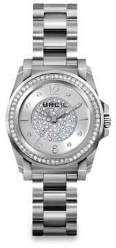 Breil Milano Manta Crystal & Stainless Steel Bracelet Watch