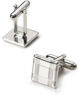 Bloomingdale's The Men's Store at Silver-Tone Check Square Cufflinks - 100% Exclusive