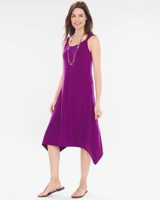 Petite Solid Shoulder-Detail Dress