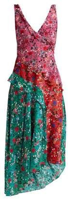 Saloni Aggie Meadow Ruffle Dress - Womens - Pink Multi