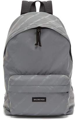 Balenciaga - Power Of Dreams Print Nylon Backpack - Mens - Grey