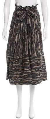 Tome Printed Midi Skirt w/ Tags