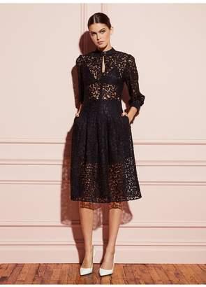 Fleur Du Mal Leopard Lace Dress With Triangle Bra