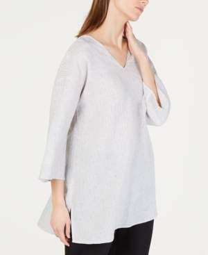 Eileen Fisher Organic Linen Striped Tunic Top
