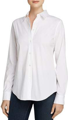 Theory Top - Tenia Luxe Stretch Cotton $245 thestylecure.com