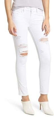 Paige Skyline Ripped Ankle Skinny Jeans