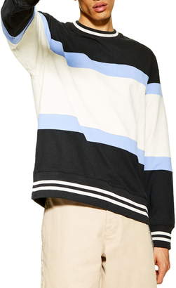 Topman Max Stripe Sweatshirt
