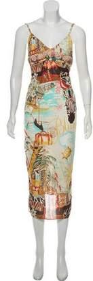 Blumarine Printed Sleeveless Dress