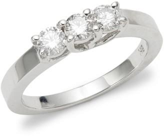 Effy 14K White Gold Triple Diamond Ring