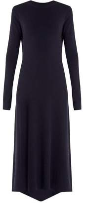 Raey Fishtail Ribbed Cashmere Dress - Womens - Navy