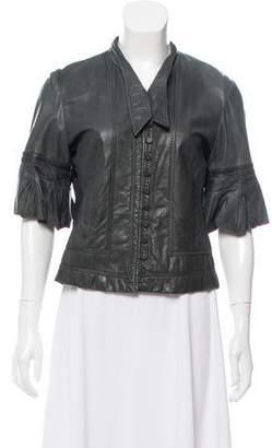 Antonio Berardi Short Sleeve Leather Jacket