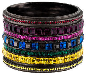 Giles & Brother Crystal Stack Bangle $225 thestylecure.com
