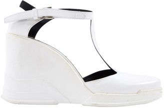 Prada White Rubber Heels