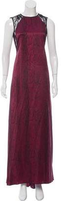 Nina Ricci Lace-Trimmed Silk Dress w/ Tags