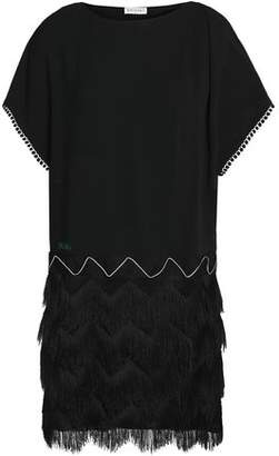 Vionnet Fringed Crepe Mini Dress