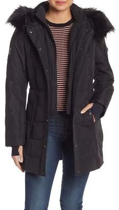Nautica Faux Fur Hooded Puffer Jacket