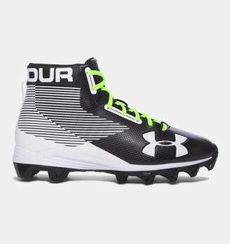 Under Armour Boys' UA Hammer Mid Rubber Molded Jr. Football Cleats