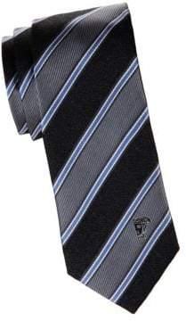 Versace Wide Stripe Silk Tie