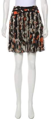 Zac Posen Silk Printed Skirt