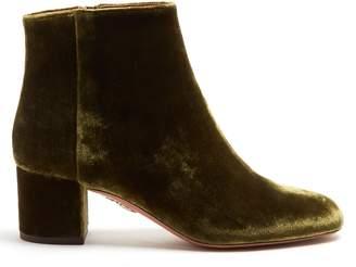 Aquazzura Brooklyn 55 velvet ankle boots