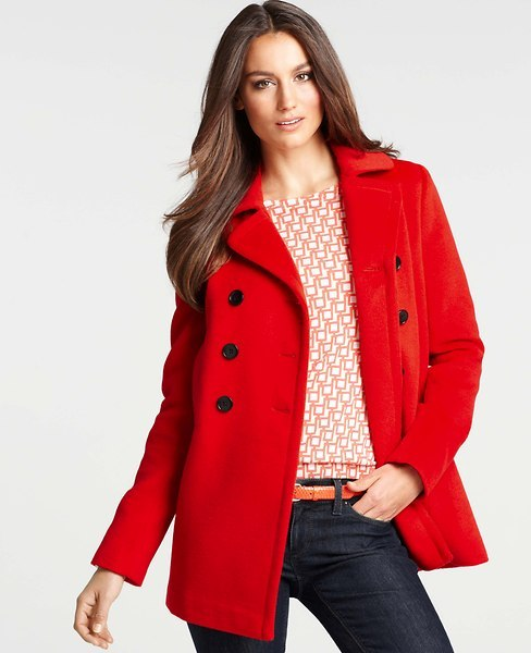 Ann Taylor Pauline Double Breasted Pea Coat