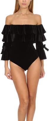 Warehouse MISA Los Angeles Alecia Velvet Bodysuit