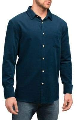 English Laundry Tonal Pinstripe Cotton Sport Shirt