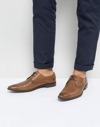 Frank Wright Derby Shoes In Tan Leather