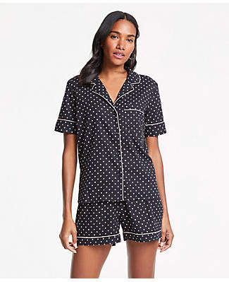 Ann Taylor Polka Dot Pajama Set