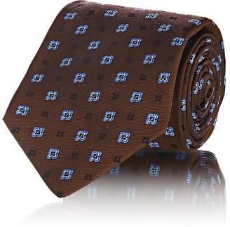 Kiton Men's Medallion Silk Faille Necktie