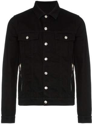 Balmain denim logo jacket
