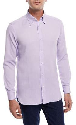 Ermenegildo Zegna Piqu&233 Cotton Sport Shirt