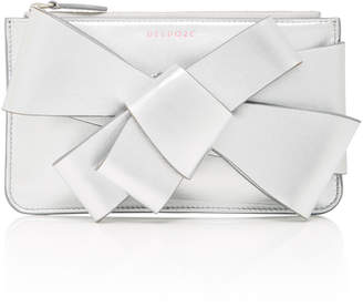 DELPOZO M'O Exclusive Mini Metallic Leather Bow Clutch